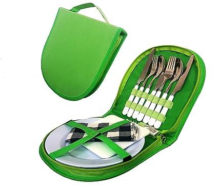 Amazon Com Cutlery Organizer Utensil Picnic Set 5 Piece Camping