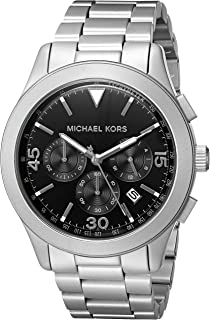 Michael Kors Mens Gareth Silver-Tone Watch MK8469