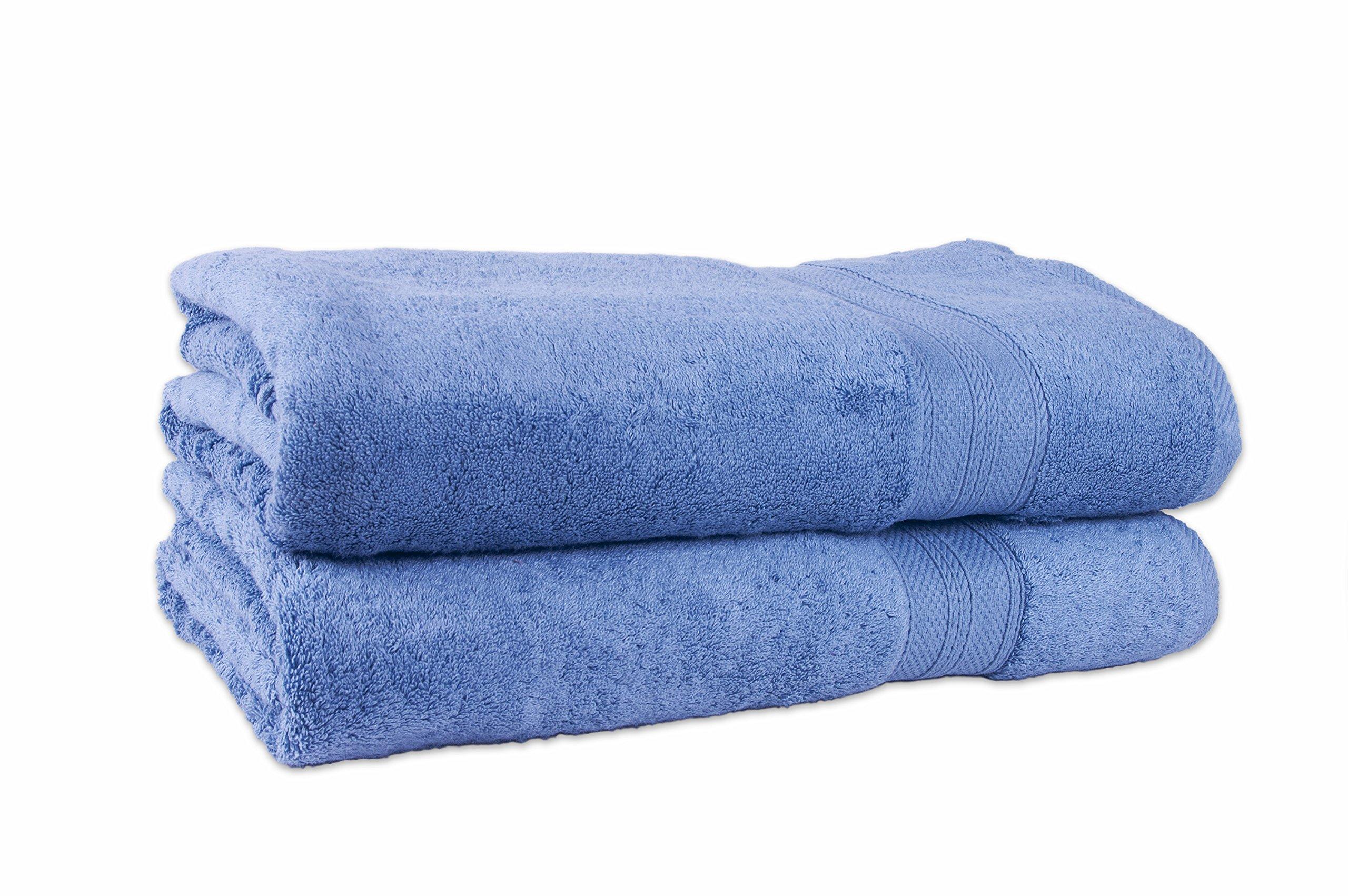 Revere Mills Boutique 2pc Bath Sheet Marine Wash,