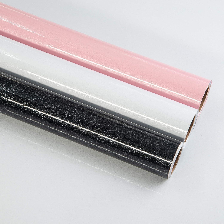 Papel Adhesivo para Muebles Negro 40cm X 3m Vinilo Pegatina Autoadhesivo Decoraci/ón De La Pared Gabinetes De Cocina Escritorio Caj/ón DIY Pegatina