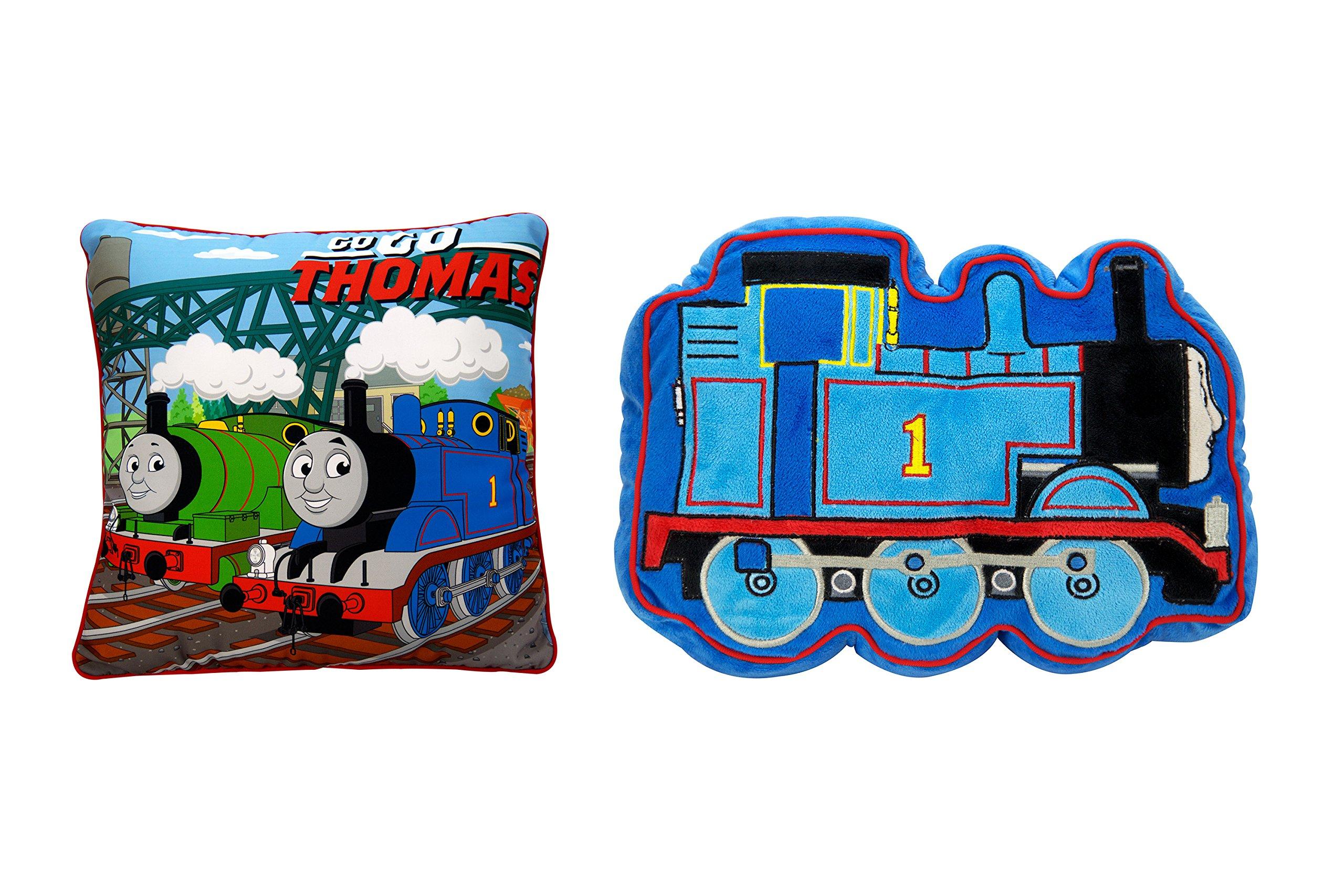Jay Franco Mattel Thomas The Tank Engine Scenic 2-Pack Decorative Pillow by Jay Franco