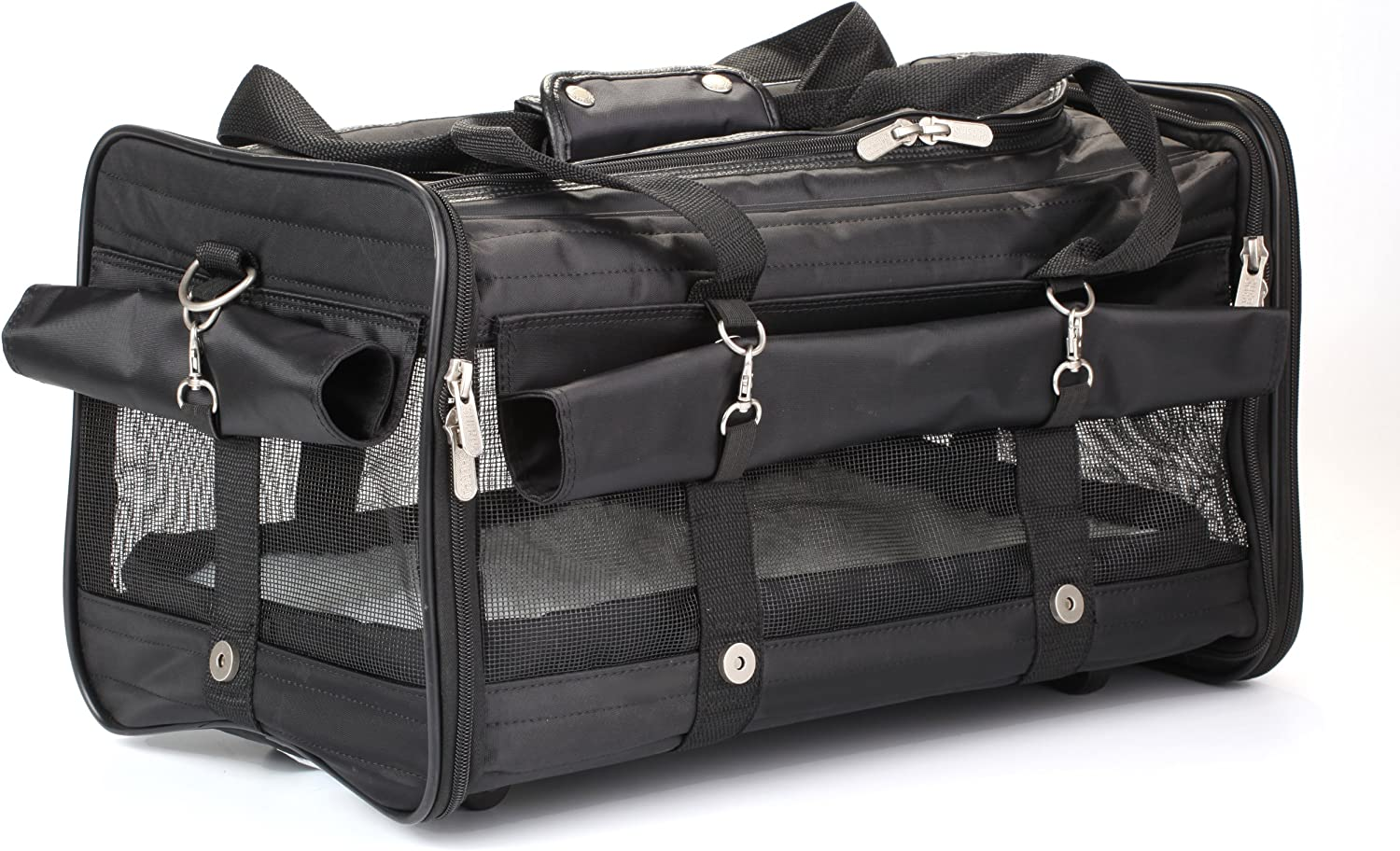 Sherpa on Wheels Pet Carrier, Large, Black : Soft Sided Pet Carriers : Pet Supplies