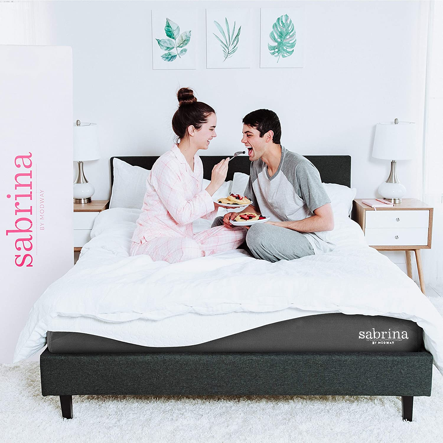Modway Sabrina 12 Latex Air Gel Cooling Memory King Mattress with CertiPUR-US Certified Foam-Luxury Firm Mattress-10-Year Warranty
