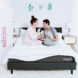"Modway Sabrina 12"" Latex Air Gel Cooling Memory Queen Mattress with CertiPUR-US Certified Foam-Luxury Firm Mattress-10-Year Warranty"
