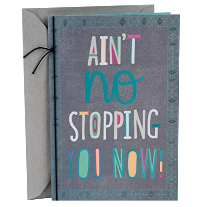 Amazon hallmark mahogany graduation greeting card aint no hallmark mahogany graduation greeting card aint no stopping m4hsunfo