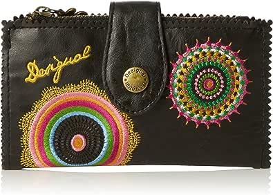 Desigual - Basic Audrey, Billetera Mujer, Negro (2000), 16x9x1 cm (B x H x T): Amazon.es: Zapatos y complementos