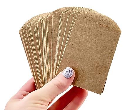 Amazon.com: 50 mini bolsas de papel kraft – 4.0 in x 2.5 in ...