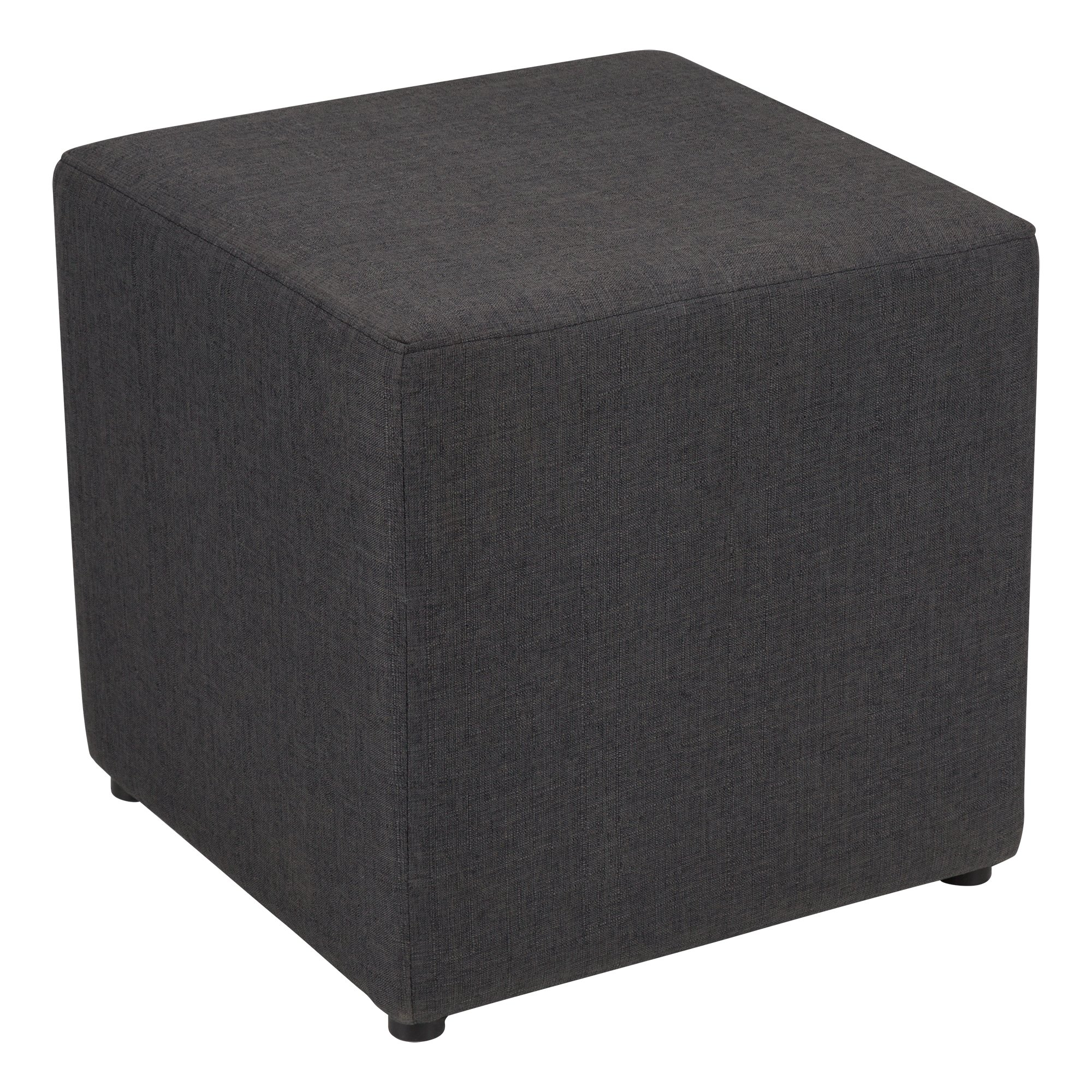 Fat Catalog Cube Storage Stool w/Drawer, Gray, ALT-OUG1001-SO by Fat Catalog (Image #2)