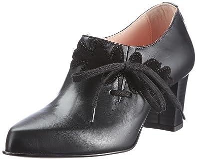 Diavolezza GIO 7031 - Zapatos de vestir de ante para mujer, color negro, talla 35