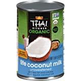 Thai Kitchen Organic Unsweetened Lite Coconut Milk, 13.66 fl oz (Pack of 6)
