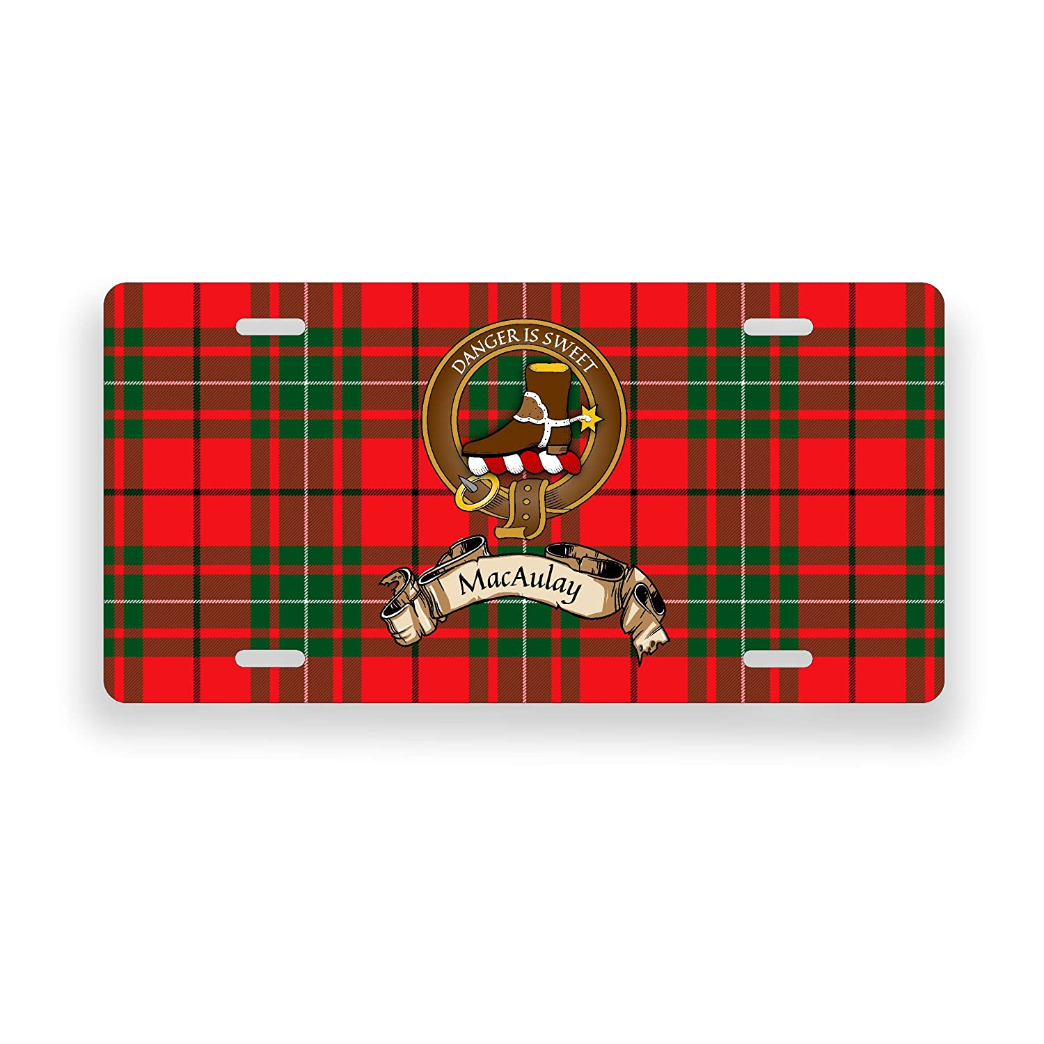 MacAulay Scotland Clan Tartan Novelty Auto Plate