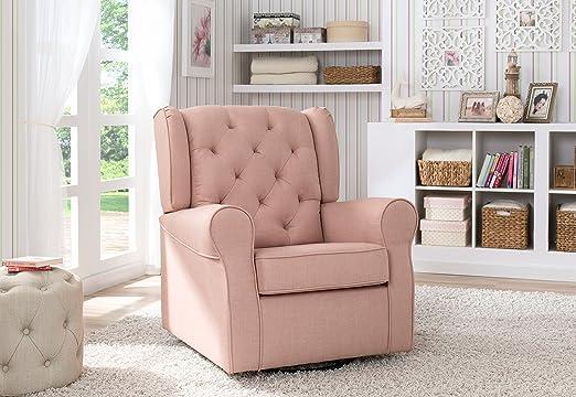 Amazon.com: Delta Children Emma Tufted Glider, Blush: Baby