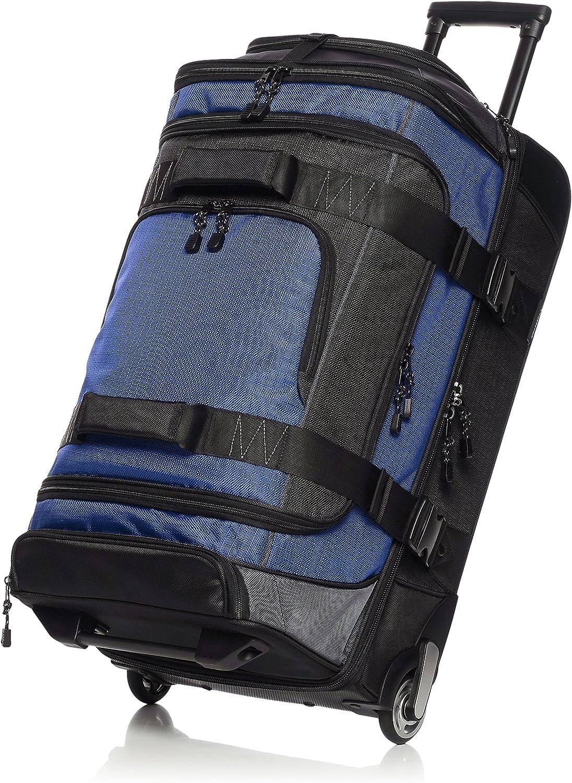 AmazonBasics - Mochila con ruedas de ripstop, 83 cm, 87 litros - Azul