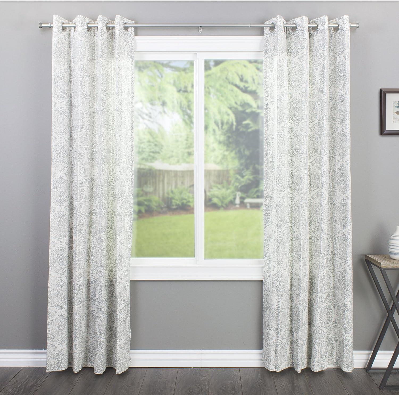 Decopolitan End Cap Single Curtain Rod Set, 18 to 36-Inch, Nickel: Home & Kitchen