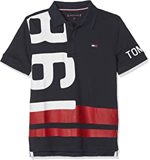 Tommy Hilfiger AME Cut and Sew Rugby LS Polo, Bleu (Navy