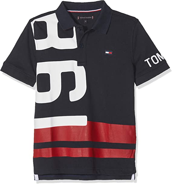 Tommy Hilfiger Nautical Numbers Polo S/s, Azul (Black Iris 002 ...