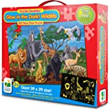 The Learning Journey Puzzle Doubles, Glow In The Dark, Wildlife