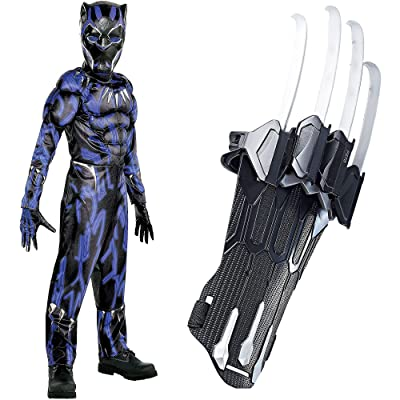 Party City Black Panther Claws Halloween Costume for Boys, Marvel's Avengers, Medium, Includes Jumpsuit, Mask and Gloves: Clothing [5Bkhe0506780]