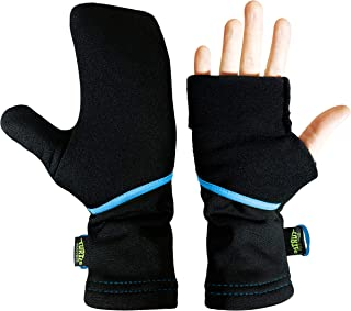 product image for Turtle Gloves Lightweight Convertible Running Mittens for Spring/Fall