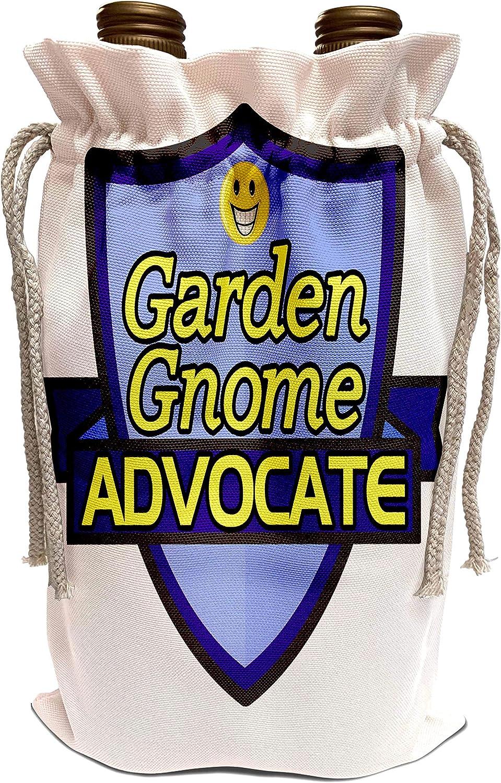 3dRose Dooni Designs – Funny Sarcastic Advocate Designs - Garden Gnome Advocate Support Design - Wine Bag (wbg_242635_1)