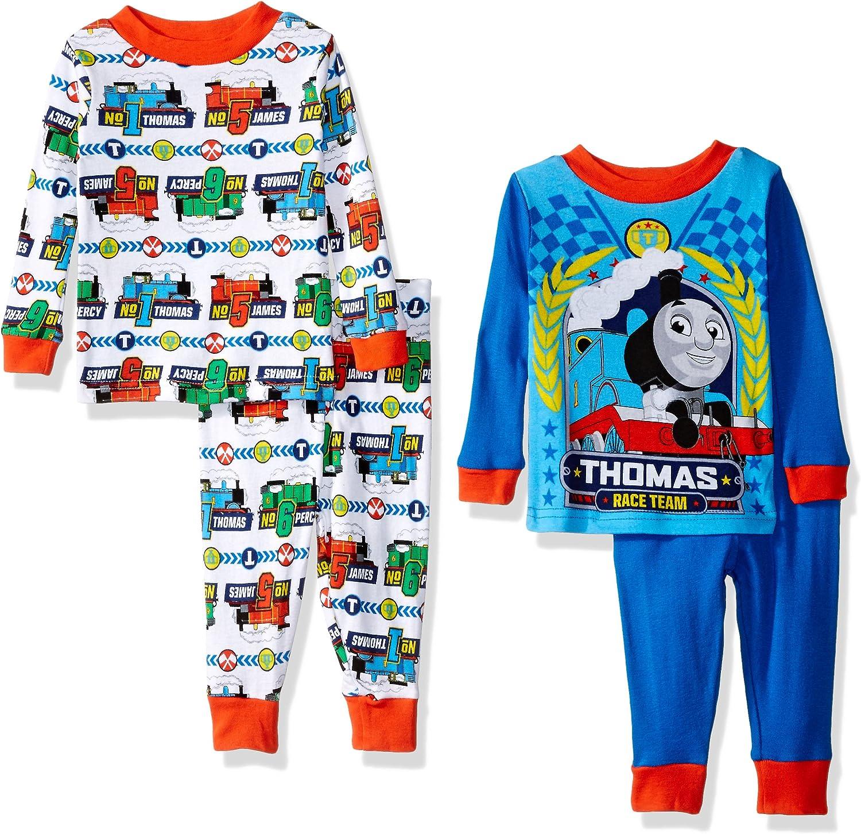 Thomas /& Friends Toddler Boys 4pc Snug Fit Pajama Pant Set Size 2T 3T 4T