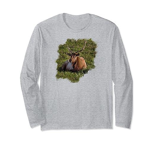 Elk Sitting Long-sleeved T-Shirt