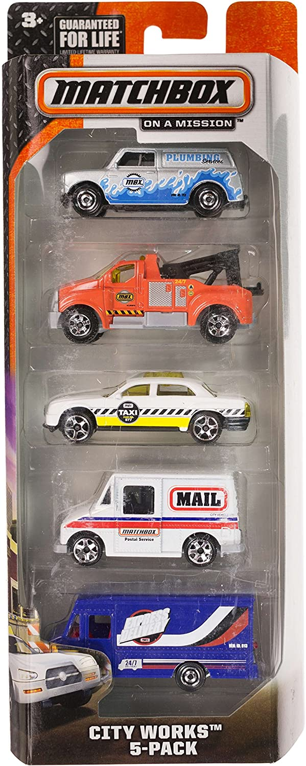 City Works: 5-Vehicle Matchbox Gift Set Series by Matchbox: Amazon.es: Juguetes y juegos