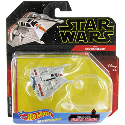 Hot Wheels Star Wars Starships Rebel Snowspeeder: Toys & Games