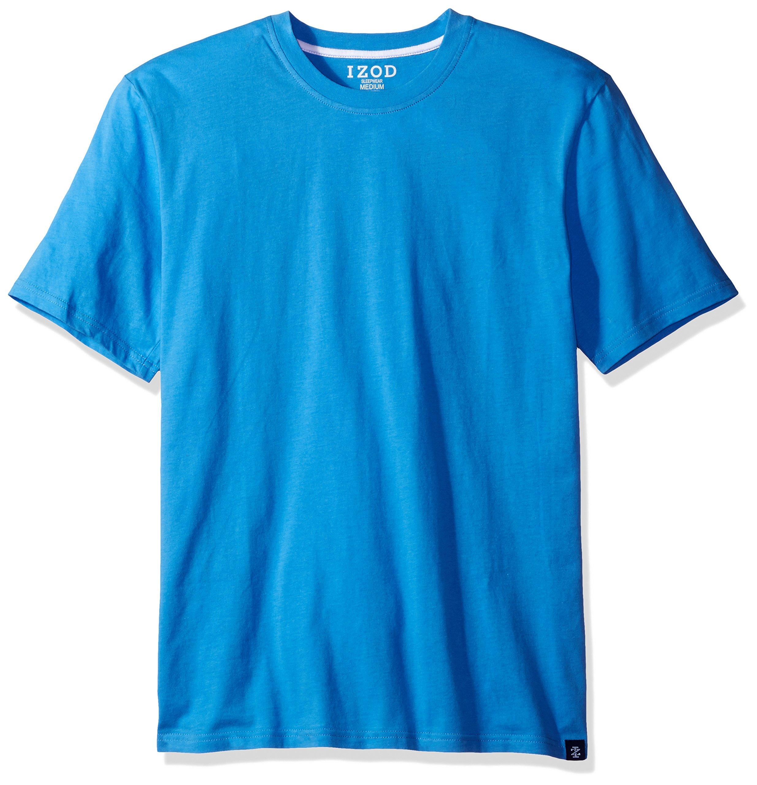 IZOD Men's Jersey Knit Sleep Shirt, Regatta Blue, Small