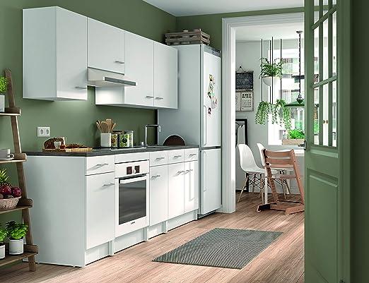Armario bajo de cocina, blanco, de 40cm con 1 puerta y 1 cajón: Amazon.es: Juguetes y juegos