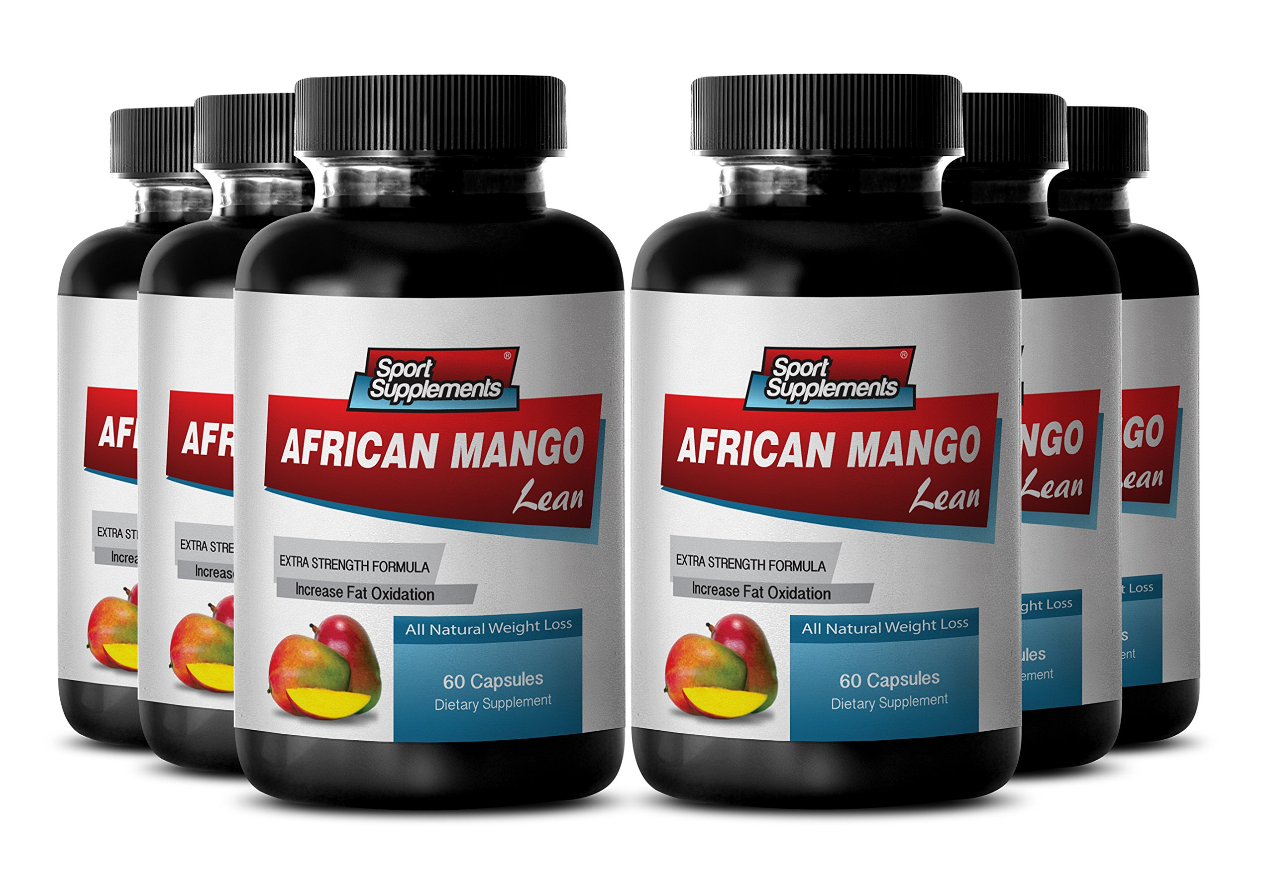 Burn calories - AFRICAN MANGO EXTRACT with Green Tea, Resveratrol, Kelp, Grapefruit 1200 Mg - African mango detox - 6 Bottles 360 capsules by Sport Supplements