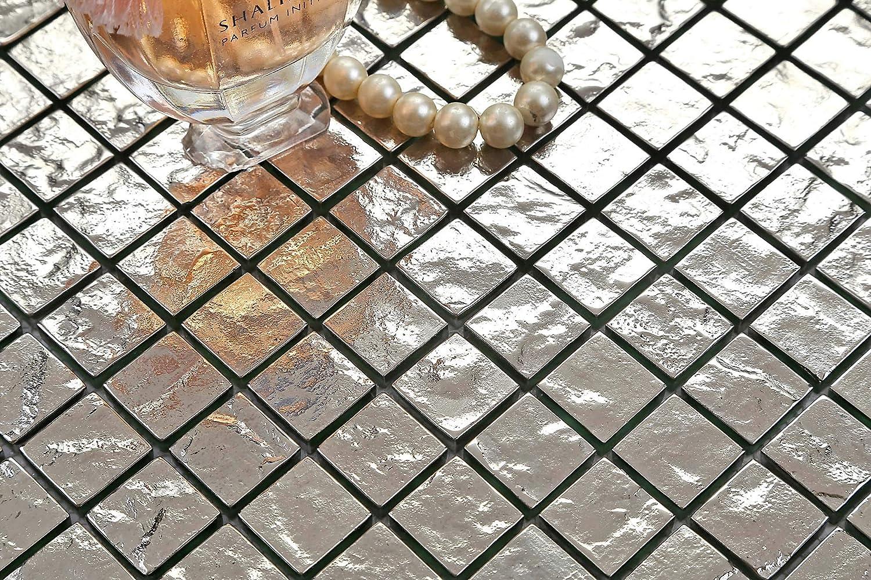 Carrelage mosa/ïque en dans verre textur/é Argent/é MT0127 sample Offre propos/ée pour lachat dun petit /échantillon