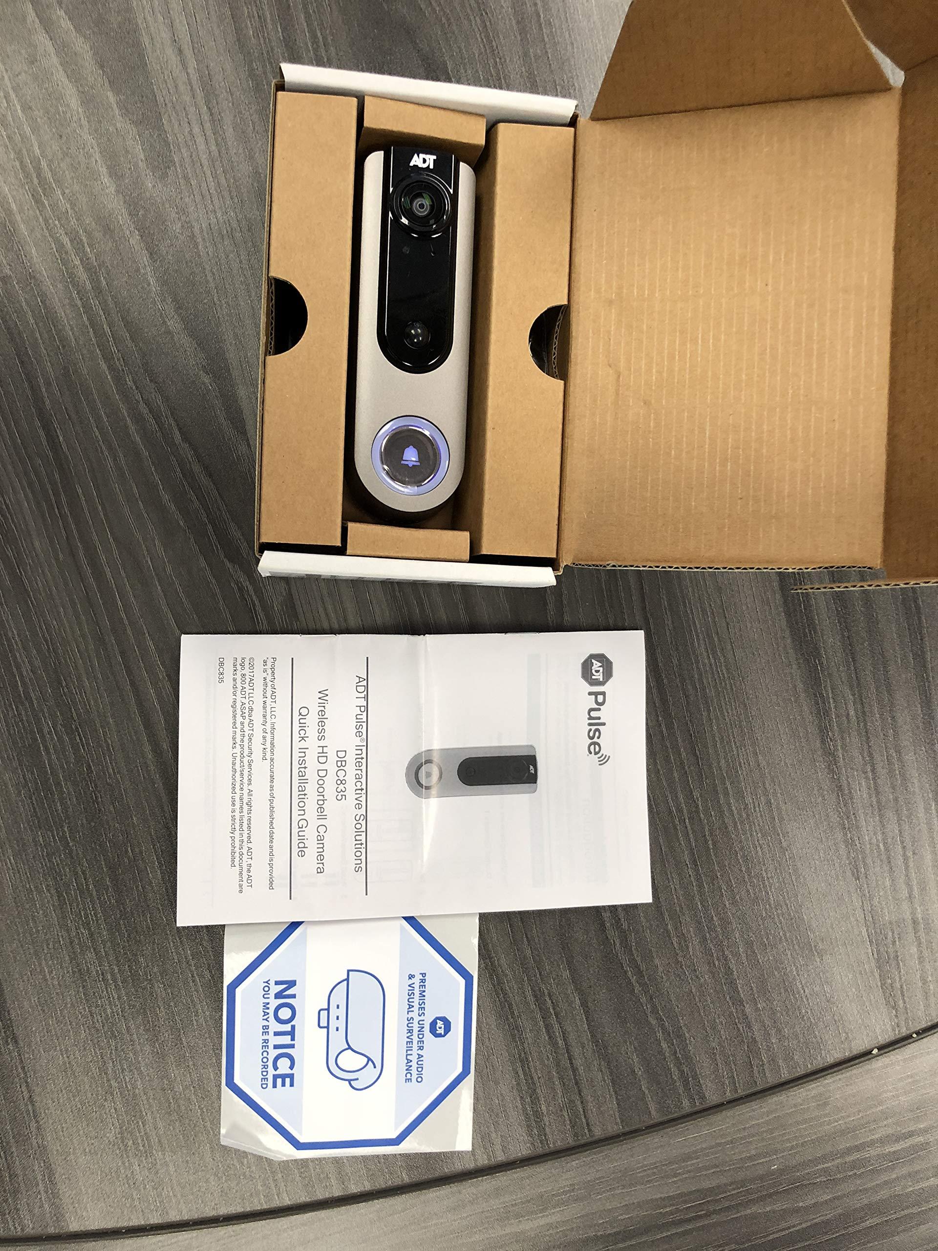 DBC835 ADT Pulse Doorbell Camera