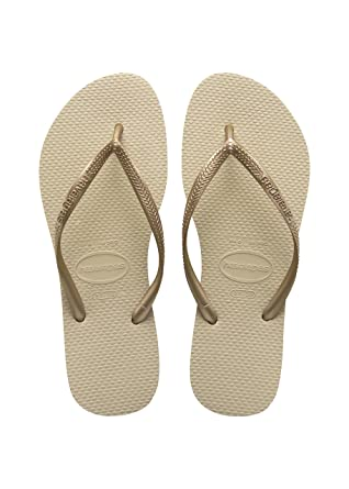 411aba0e057c07 Havaianas Women s Slim Sandal Flip Flop Sand Grey Light Golden 35 36 BR (
