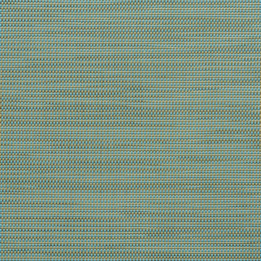 SL004 Turquoise and Light Green Woven Sling Vinyl Mesh Outdoor Furniture Fabric by The Yard