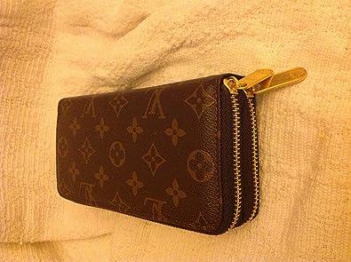 6e3ca41620f6 Louis Vuitton Double Zip Clutch Purse With Detachable wrist Strap ...