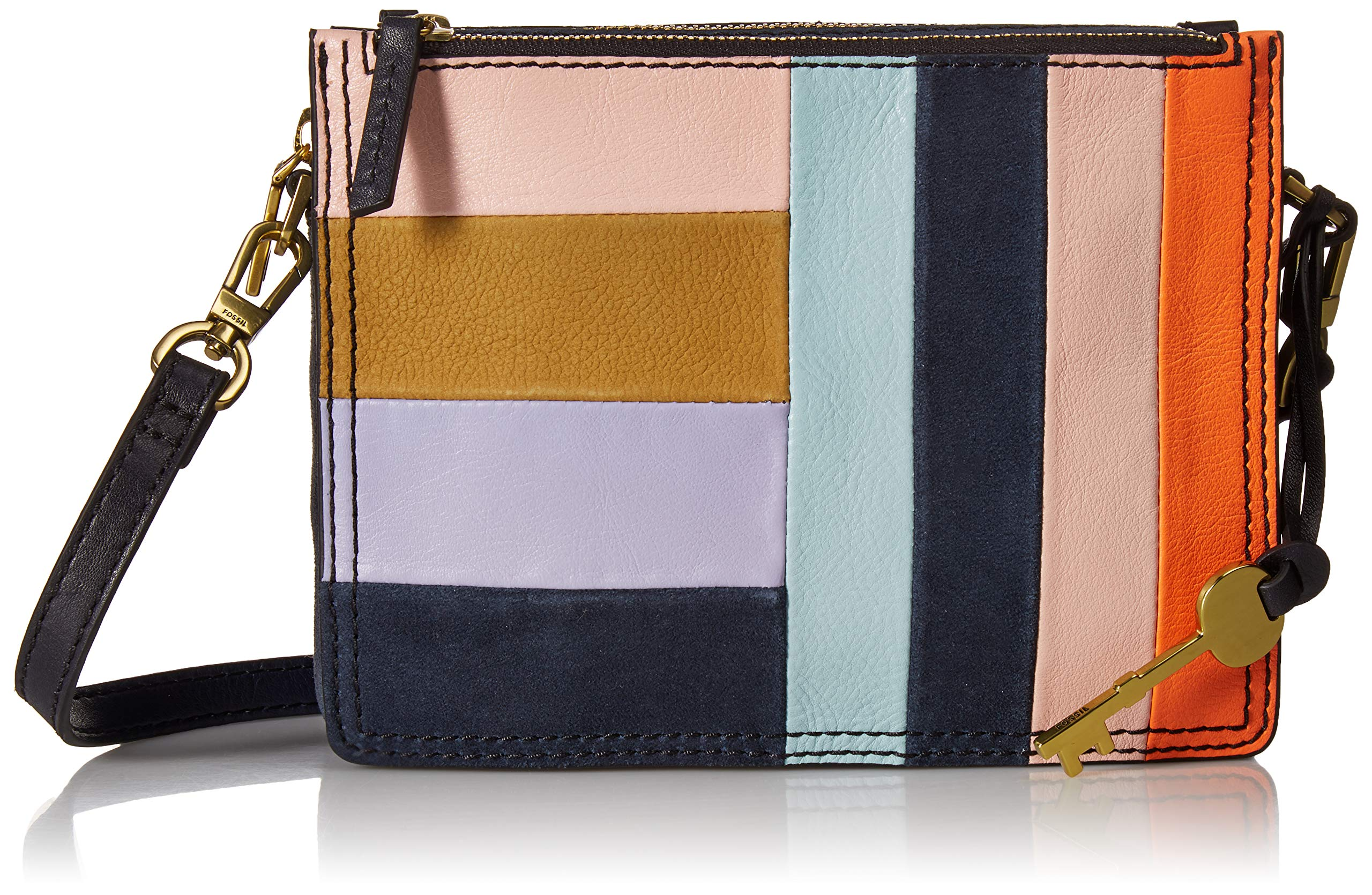 Fossil Campbell Crossbody Bright Patchwork