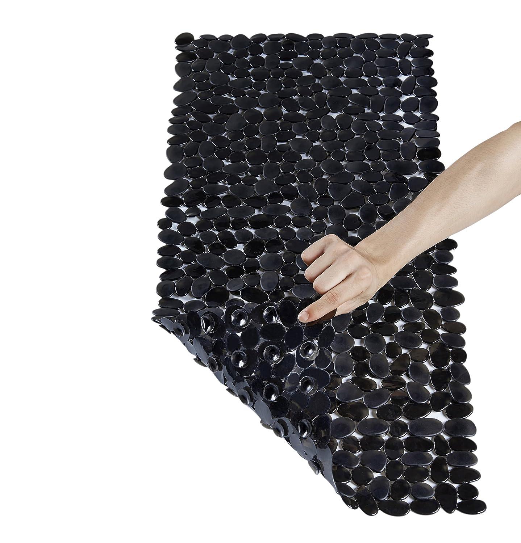 Stone Bath Mats Slip Resistant Shower Black Bathroom Decor