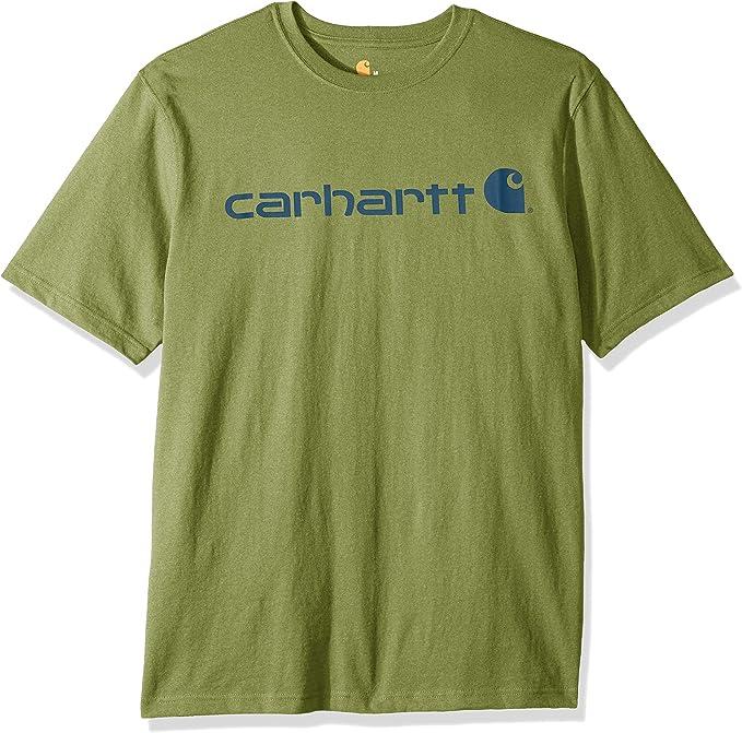 Carhartt Mens Short Sleeve Cotton Core Crew Neck Logo T-Shirt