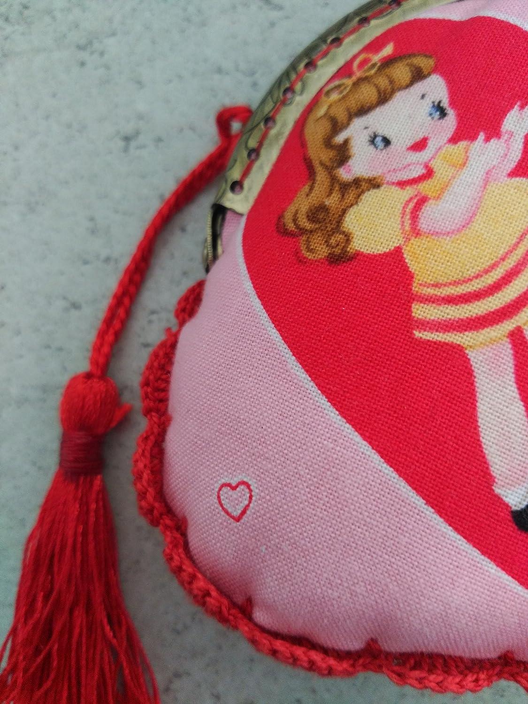 Monedero hecho a mano tela con muñeca: Amazon.es: Handmade