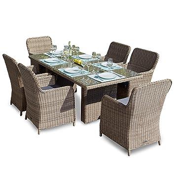 Amazonde Green Spirit Hochwertige Tischgruppe 13 Tlg In Braun