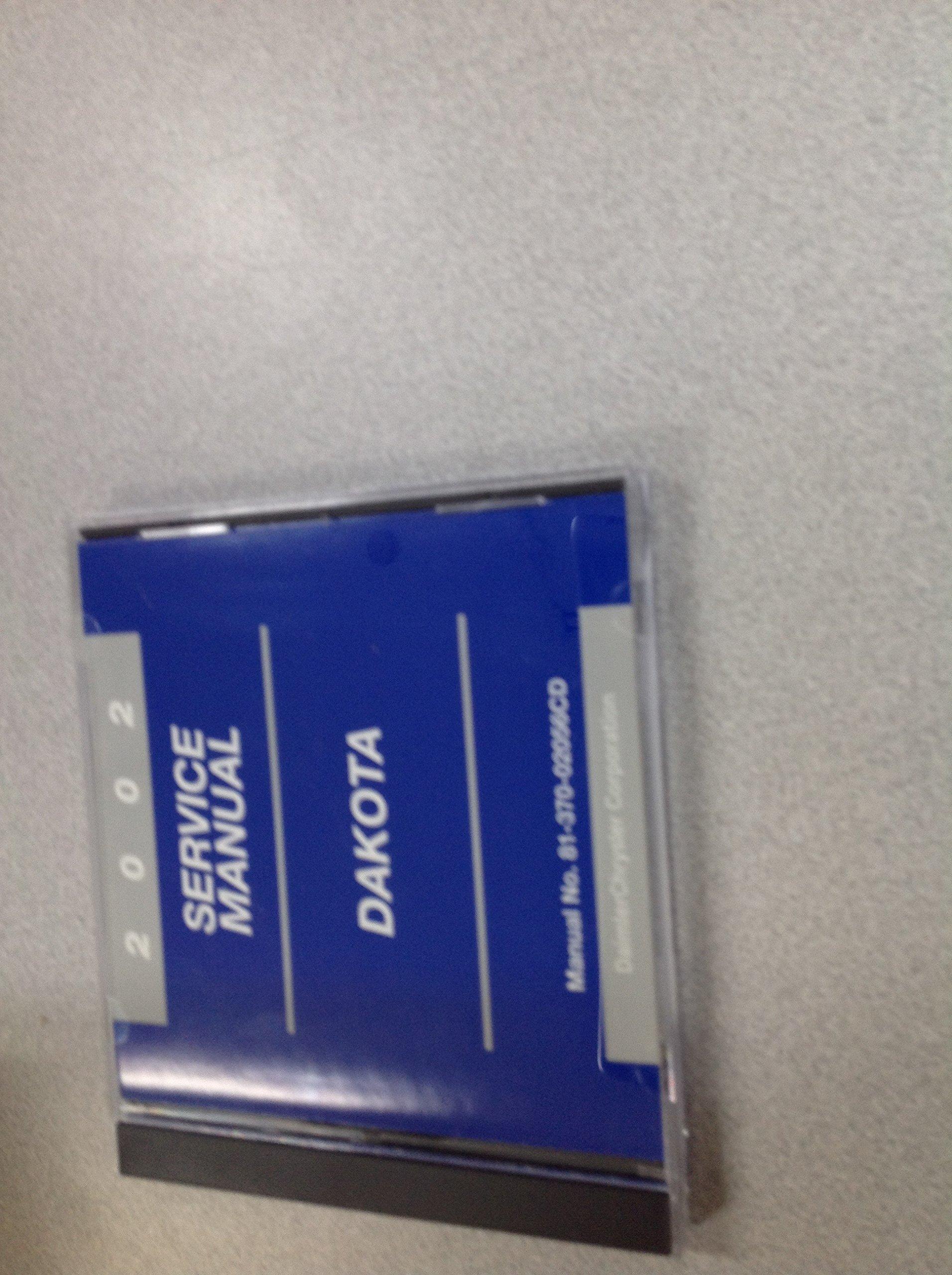 98 dakota repair manual copy