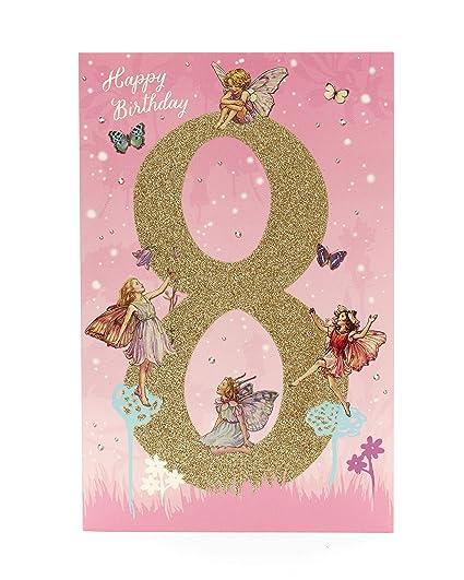 Tarjeta de cumpleaños para niñas de 8 años con diseño de ...
