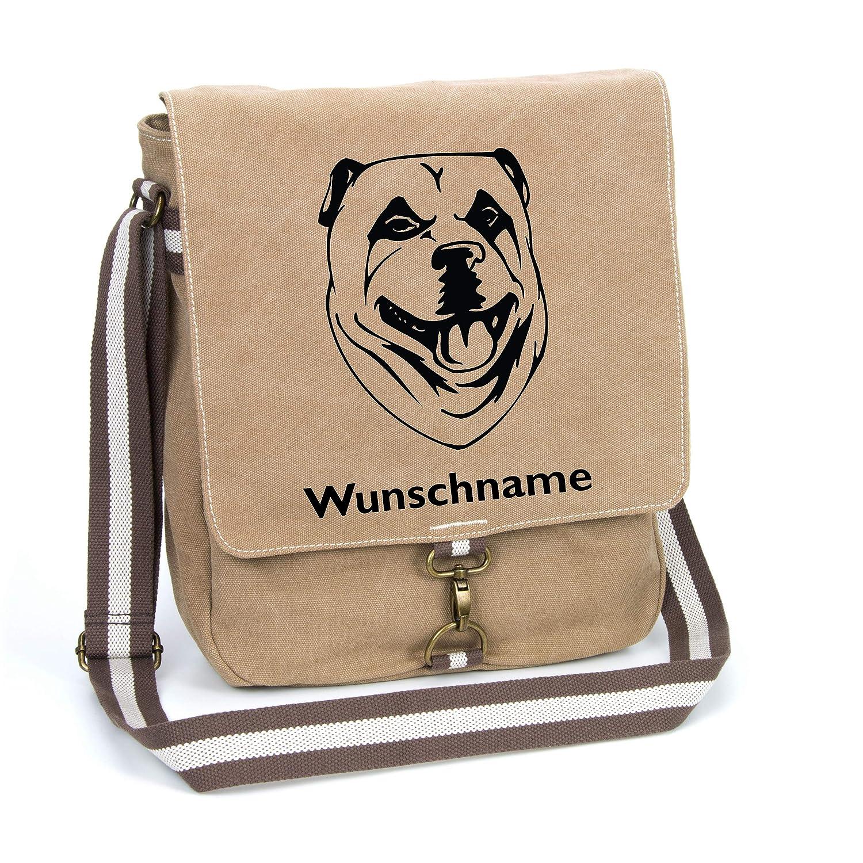 Kangal Hirtenhund Canvas Schultertasche Umhängetasche Tasche mit Hundemotiv und Namen personalisiert B07H4SPYZV Messenger-Bags
