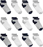 Simple Joys by Carter's Baby and Toddler Boys' 12-Pack Sock Ankle