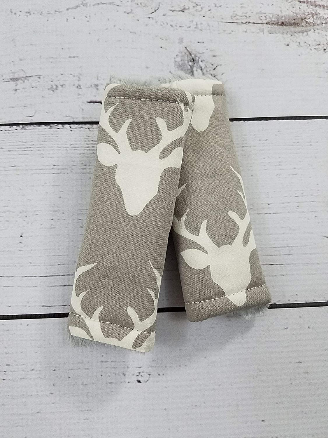 Reversible Buck Forest Silver Woodland Deer Baby Infant Car Seat Strap Cover