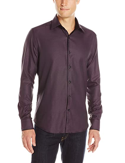Stone Rose Mens Texture Long-Sleeve Shirt