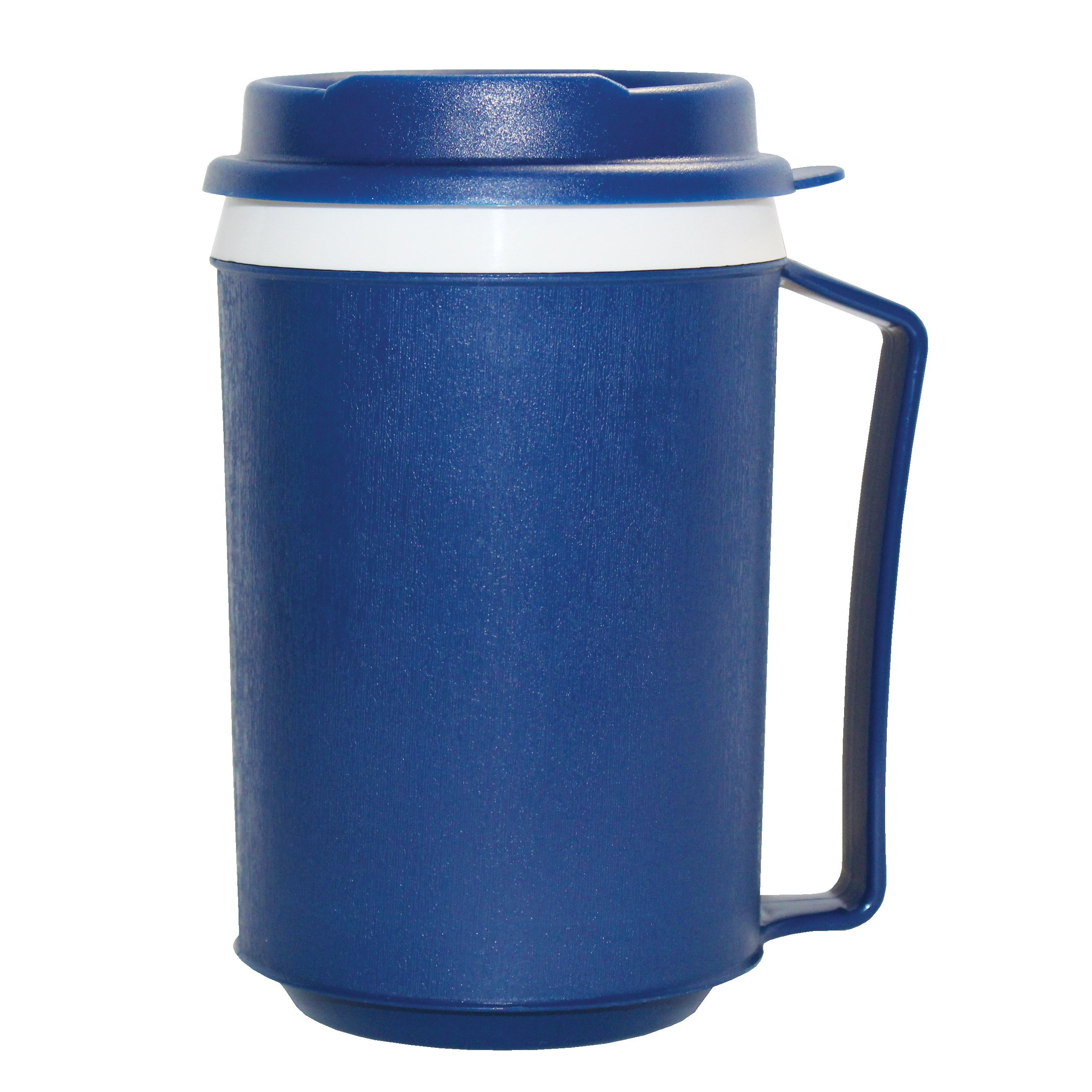 Rehabilitation Advantage Insulated Mug with Tumbler Lid, Blue, 0.3 Pound