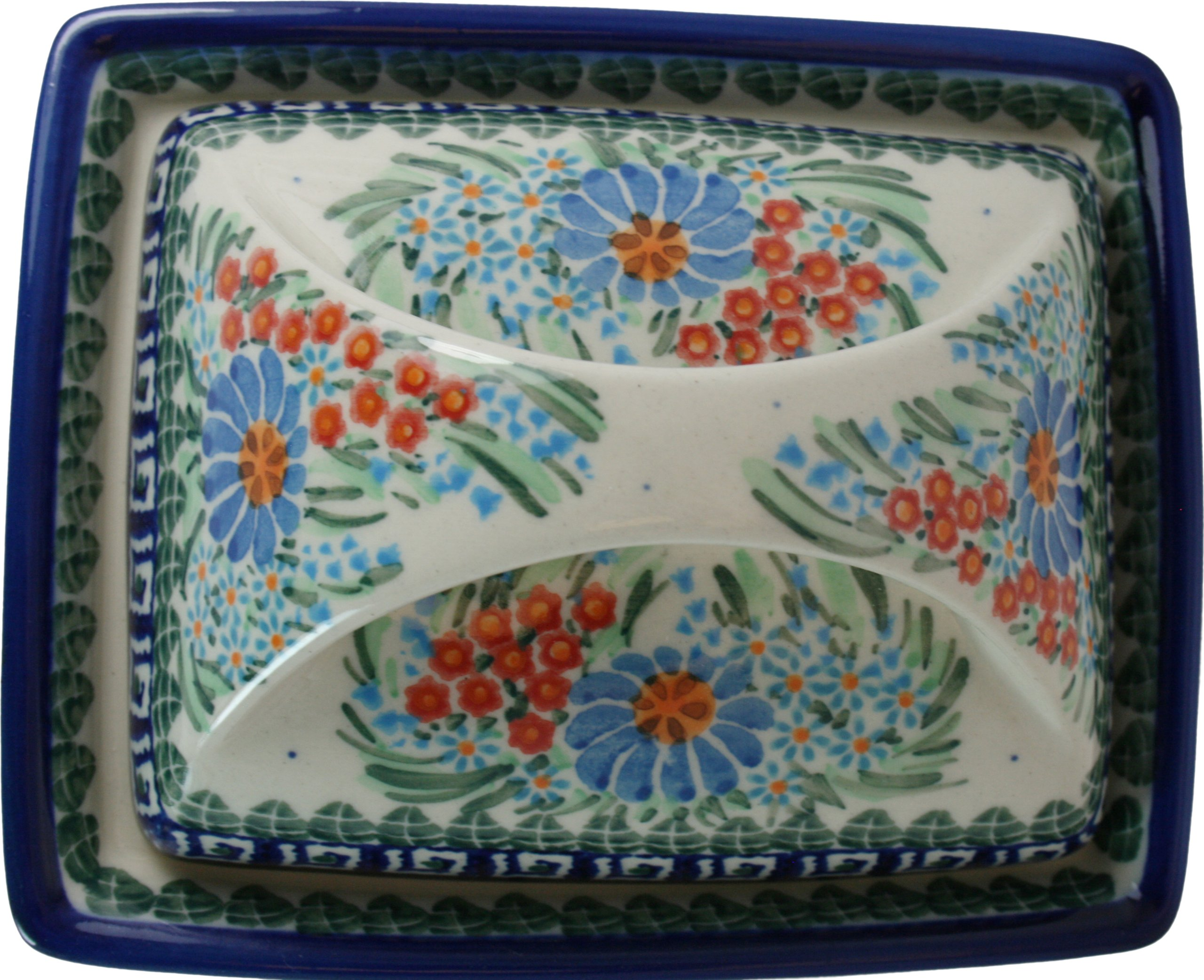 Polish Pottery Ceramika Boleslawiec 0352/169 Butter Deep Dish, 2 Cubes by Polish Pottery Ceramika Boleslawiec (Image #5)