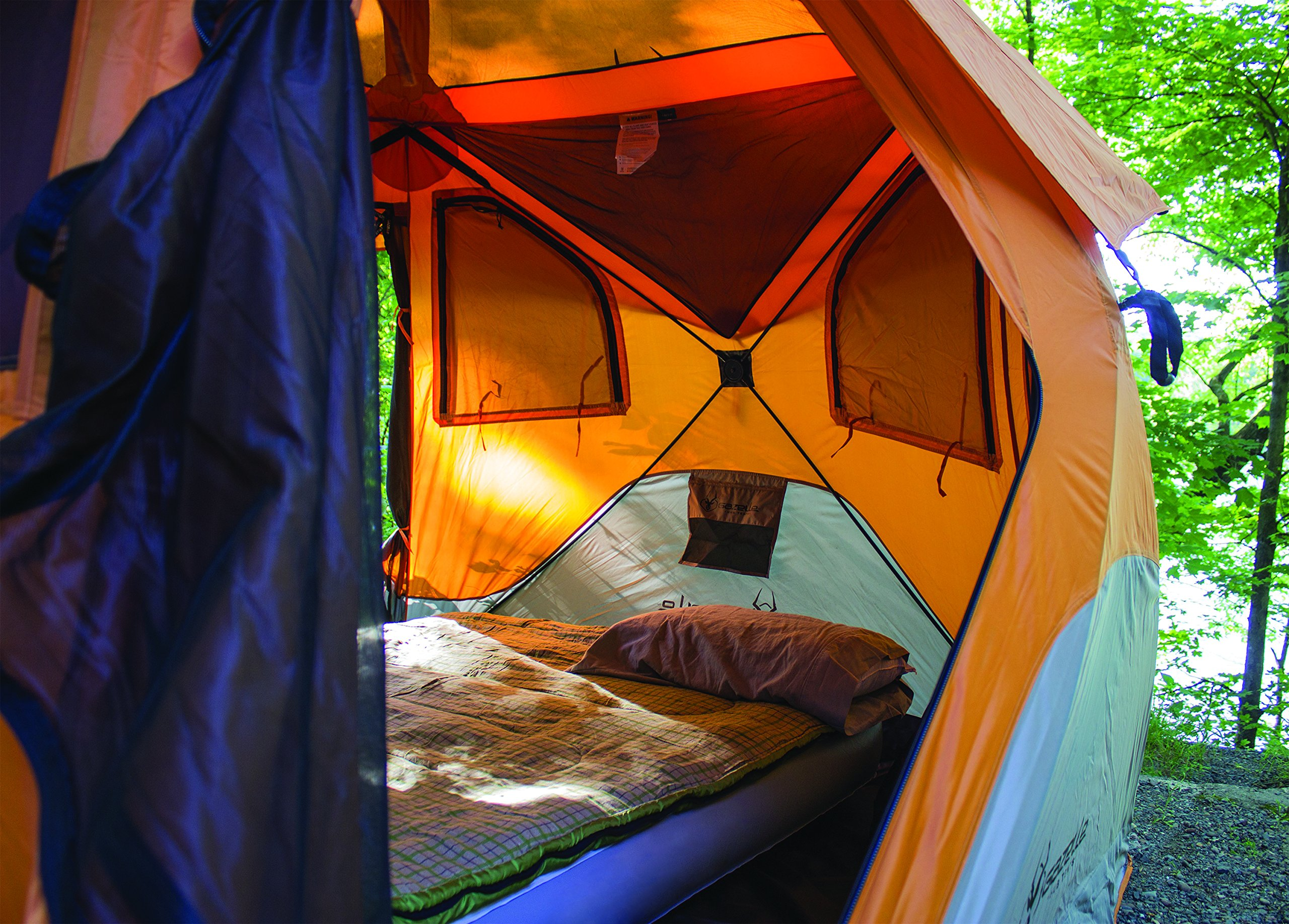 Gazelle 22272 T4 Pop-Up Portable Camping Hub Tent, Orange ...
